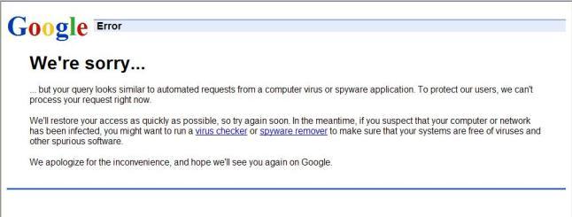 My First Google Error Page